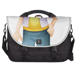 Une fille sacoches pour ordinateurs portables