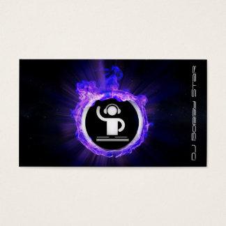 Une flamme bleue fraîche DJ et carte de visite de