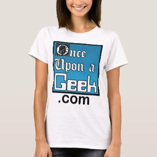 Une fois sur une chemise de dames de geek t-shirt