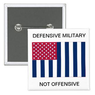 Une goupille non offesive défensive de drapeau de  badge carré 5 cm