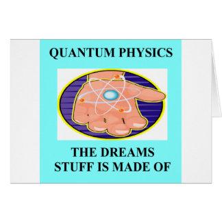 Une grande conception de physique carte de vœux
