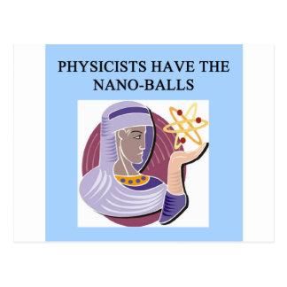Une grande conception de physique carte postale