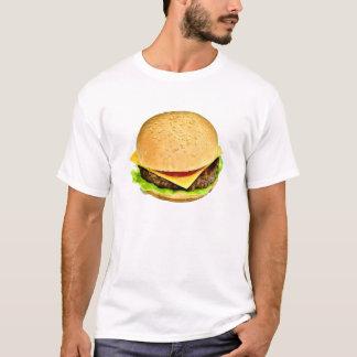 Une grande photo juteuse de cheeseburger t-shirt