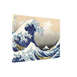 Une grande vague outre de Kanagawa par Hokusai Toiles