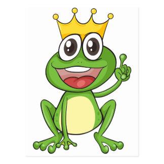 une grenouille carte postale