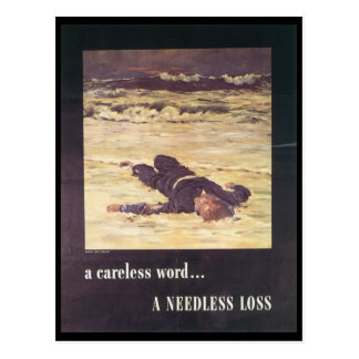 Une guerre mondiale inutile de perte 2 carte postale