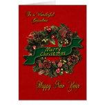Une guirlande de fête de Noël pour votre grand-mam Cartes De Vœux