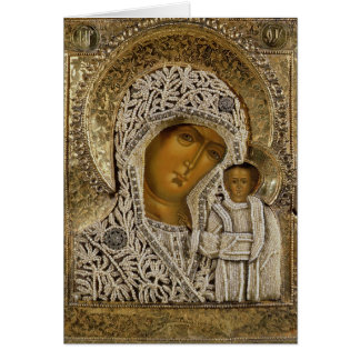 Une icône montrant la Vierge de Kazan Cartes