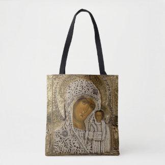 Une icône montrant la Vierge de Kazan Sac