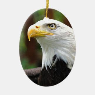 Une image américaine des Etats-Unis Eagle chauve Ornement Ovale En Céramique