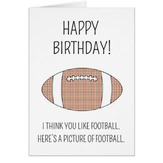 Une image du football - carte d'anniversaire