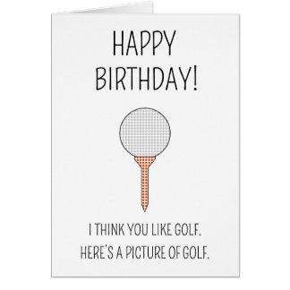 Une image du golf - carte d'anniversaire