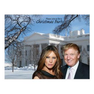 Une invitation de Noël de Donald et de Melania