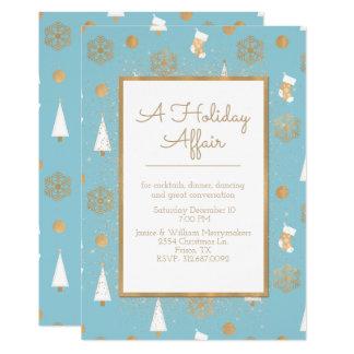Une invitation de partie de bleu et d'or d'affaire