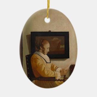 Une lecture de jeune femme par Johannes Vermeer Ornement