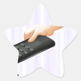 Une lettre R pour à télécommande Sticker Étoile