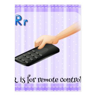 Une lettre R pour à télécommande Carte Postale
