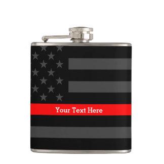Une ligne rouge mince drapeau des USA que votre Flasques