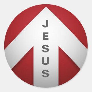Une manière - Jésus Sticker Rond