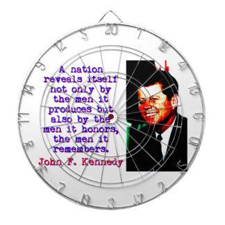 Une nation s'indique - John Kennedy Jeux De Fléchettes