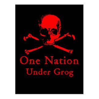 Une nation sous des cartes postales de grog (crâne