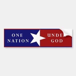 Une nation sous le bumpersticker de Dieu Autocollant De Voiture
