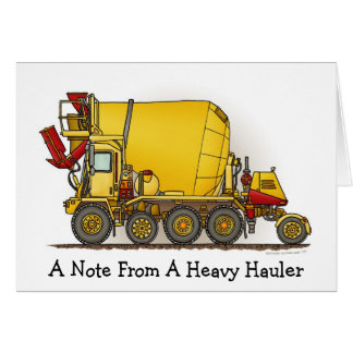 Une note de… Carte de note de camion de mélangeur