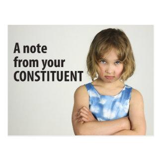 Une note vos femmes constitutives du 10 mars /100 carte postale