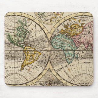 Une nouvelle carte du monde entier avec les vents  tapis de souris