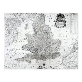 Une nouvelle carte du royaume de l'Angleterre Carte Postale