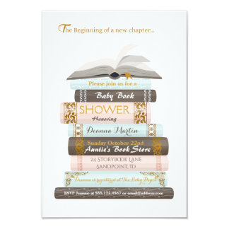 Une nouvelle invitation de douche de livre de bébé