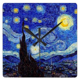 Une nuit étoilée a inspiré des horloges murales