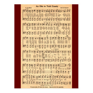 Une ode vers le comté de York dans la musique et Cartes Postales