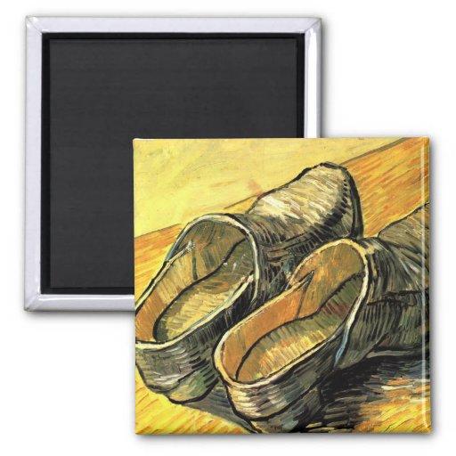 Une paire d'entraves de cuir par Vincent van Gogh Aimant Pour Réfrigérateur