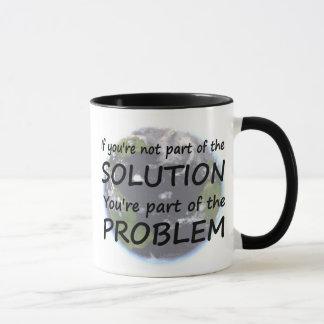 Une partie de la tasse de solution