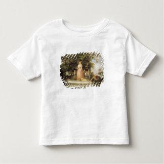 Une pêche à la ligne de partie (huile sur la t-shirt pour les tous petits