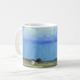 Une peinture de paysage parfaite d'art abstrait de mug