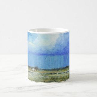 Une peinture de paysage parfaite d'art abstrait de mug magic
