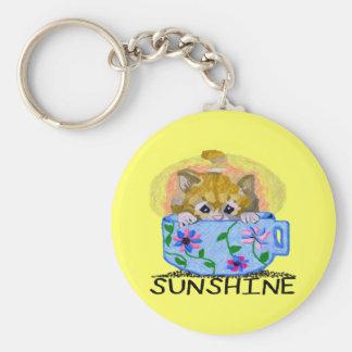 Une petite tasse de Soleil-Porte - clé Porte-clé Rond