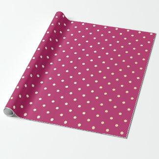 Une pivoine rose vive plus rusée de petits points papiers cadeaux