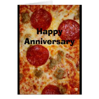 Une pizza mon coeur appartient à vous carte