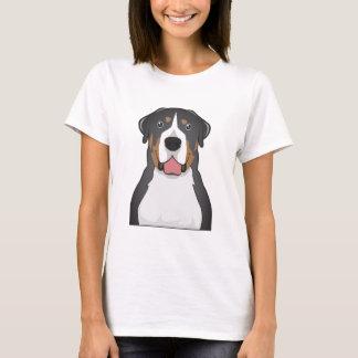 Une plus grande bande dessinée suisse de chien de t-shirt