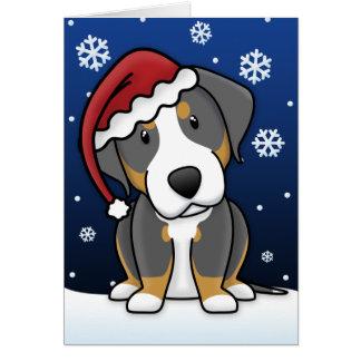 Une plus grande carte de Noël suisse de chien de