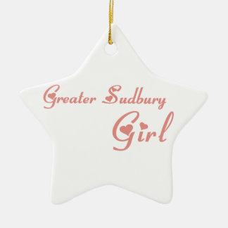 Une plus grande fille de Sudbury Ornement Étoile En Céramique
