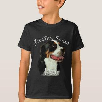 Une plus grande maman suisse 2 de chien de t-shirt