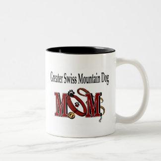 Une plus grande tasse suisse de maman de chien de