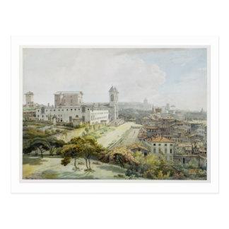Une position de Rome adoptée du Pincio, 1776 (la Carte Postale