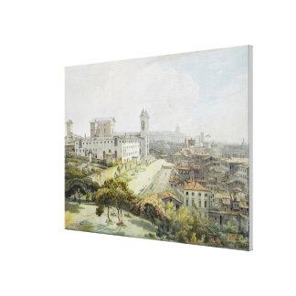Une position de Rome adoptée du Pincio, 1776 (la s Toiles