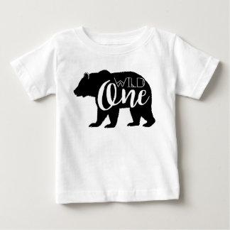 Une première fête d'anniversaire sauvage de l'ours t-shirt pour bébé