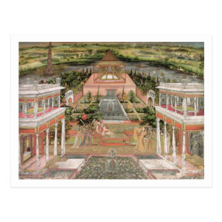 Une princesse de Mughal dans son jardin (gouache Carte Postale